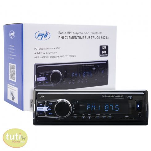 PNI Mp3-as Bluetooth autórádió RDS-el, 12-24V (PNI-8524BT)